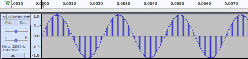 Sine wave in Audacity